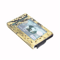 Fernando RFID Blocker Mechanism Leather Business / Credit Card Holder - YELLOW - saracleather