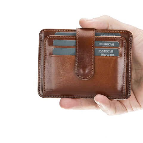 Adelao Leather Men's Bifold Wallet - EFFECT BROWN - saracleather