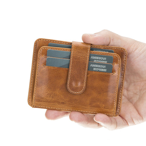 Adelao Leather Men's Bifold Wallet - TAN - saracleather