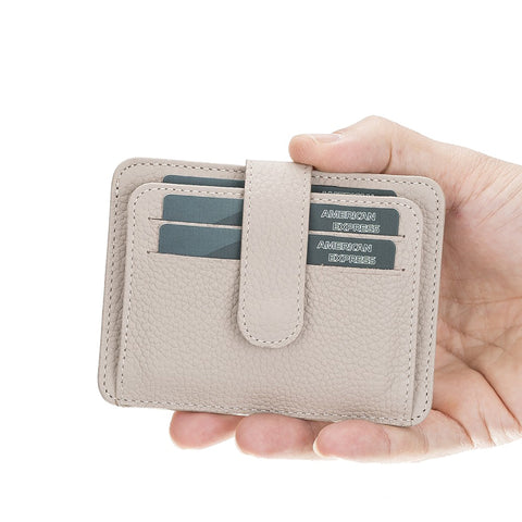 Adelao Leather Men's Bifold Wallet - GRAY - saracleather