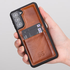 Flex Cover Leather Back Case with Card Holder for Samsung Galaxy S21 Plus 5G (6.7