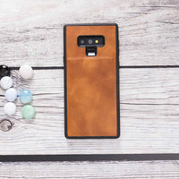 Santa Magnetic Detachable Leather Tri-Fold Wallet Case for Samsung Galaxy Note 9 - TAN - saracleather