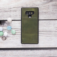Santa Magnetic Detachable Leather Tri-Fold Wallet Case for Samsung Galaxy Note 9 - GREEN - saracleather