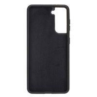 "Magic Magnetic Detachable Leather Wallet Case for Samsung Galaxy S21 5G (6.2"") - BLACK - saracleather"