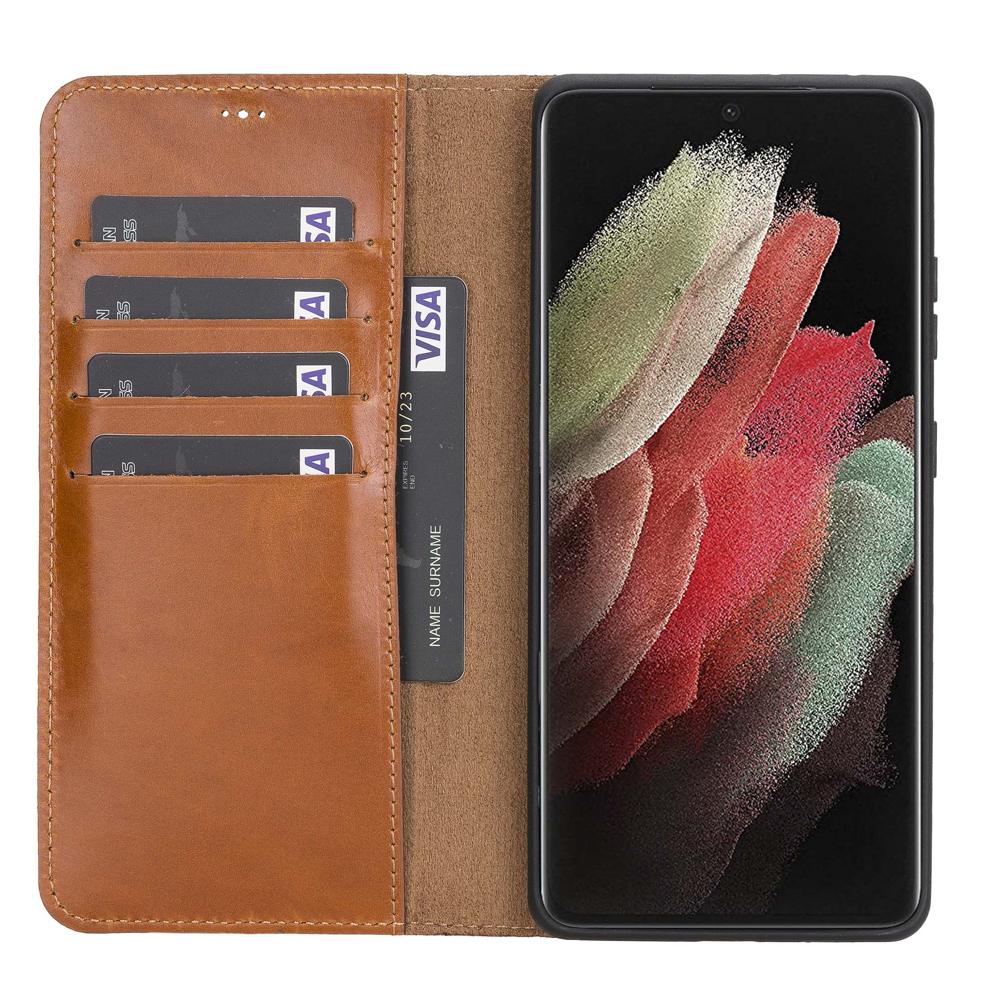 Magic Magnetic Detachable Leather Wallet Case for Samsung Galaxy S21 Ultra 5G (6.8