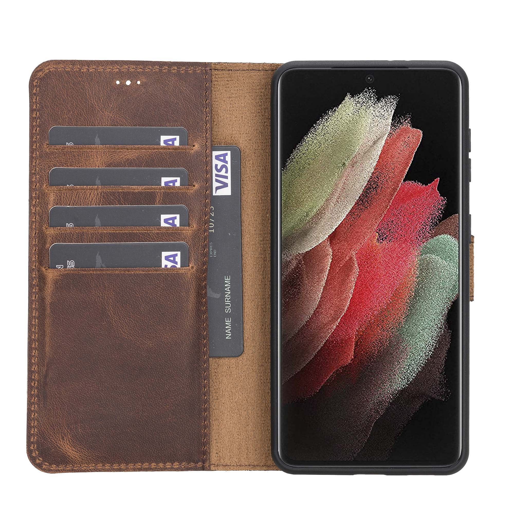 Magic Magnetic Detachable Leather Wallet Case for Samsung Galaxy S21 5G (6.2