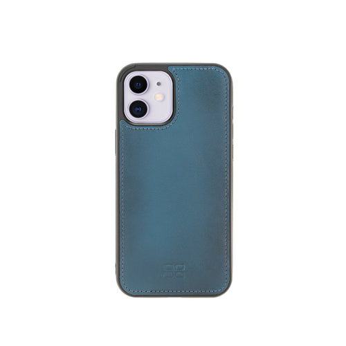 "Flex Cover Leather Back Case for iPhone 12 (6.1"") - BLUE - saracleather"