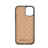"Flex Cover Leather Back Case with Card Holder for iPhone 12 (6.1"") - EFFECT BROWN - saracleather"