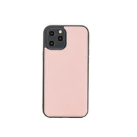 "Flex Cover Leather Back Case for iPhone 12 Pro Max (6.7"") - PINK - saracleather"