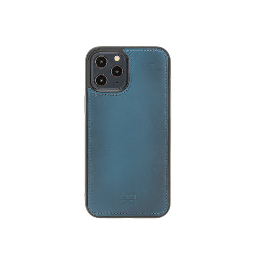 "Flex Cover Leather Back Case for iPhone 12 Pro Max (6.7"") - BLUE - saracleather"