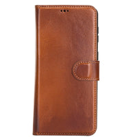 "Magic Magnetic Detachable Leather Wallet Case for Samsung Galaxy S21 Plus 5G (6.7"") - EFFECT BROWN - saracleather"