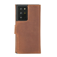 "Santa Magnetic Detachable Leather Wallet Case for Samsung Galaxy Note 20 Ultra / Note 20 Ultra 5G (6.9"") - BROWN - saracleather"