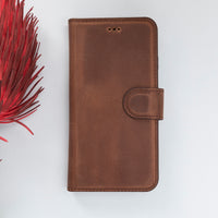 "Magic Magnetic Detachable Leather Wallet Case for iPhone SE 2020 / 8 / 7 (4.7"") - BROWN - saracleather"