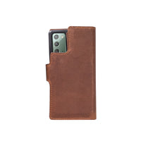"Liluri Magnetic Detachable Leather Wallet Case for Samsung Galaxy Note 20 / Note 20 5G (6.7"") - BROWN - saracleather"