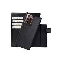 "Magic Magnetic Detachable Leather Wallet Case for Samsung Galaxy Note 20 Ultra / Note 20 Ultra 5G (6.9"") - BLACK - saracleather"