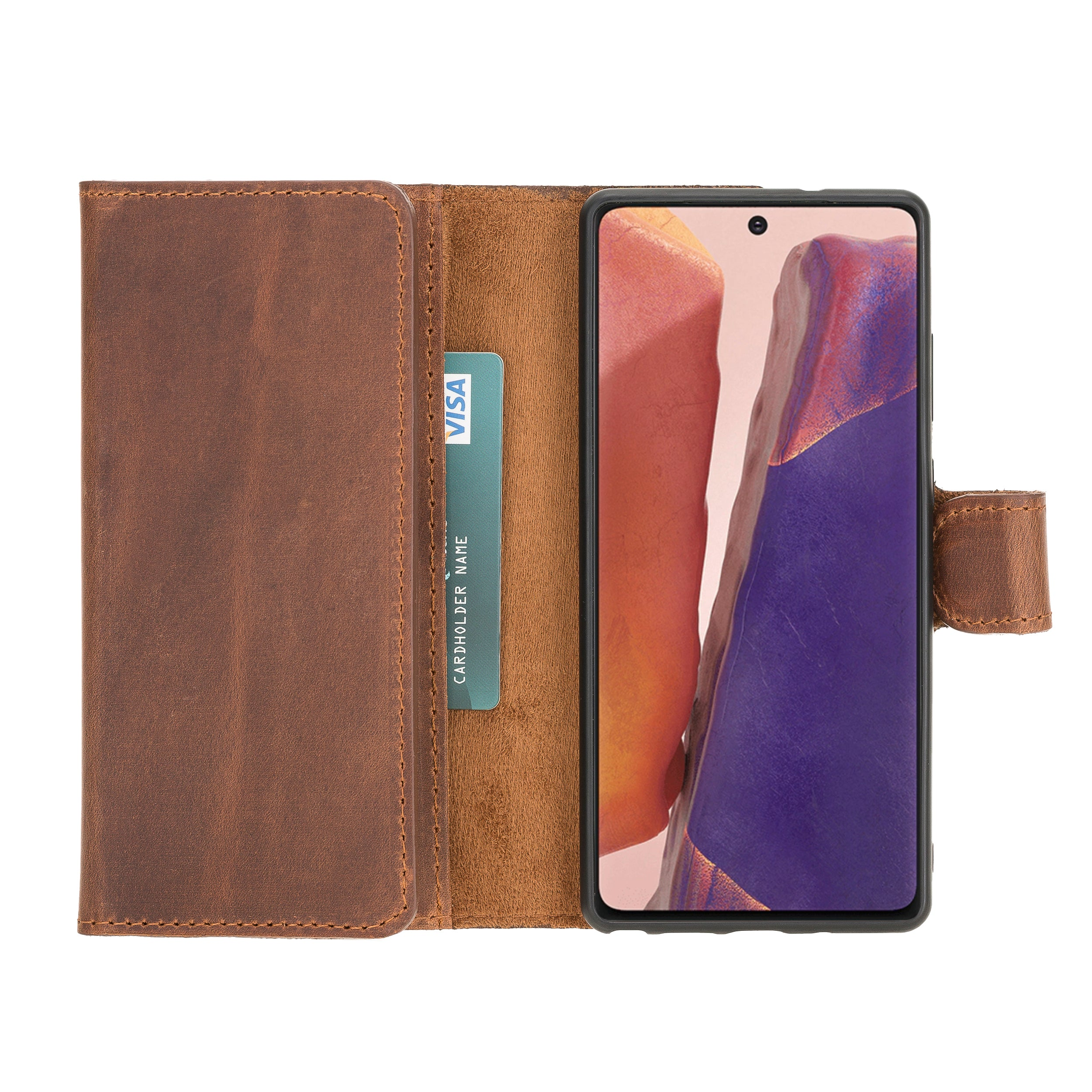 Santa Magnetic Detachable Leather Wallet Case for Samsung Galaxy Note 20 / Note 20 5G (6.7