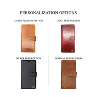 "Santa Magnetic Detachable Leather Wallet Case for Samsung Galaxy Note 20 / Note 20 5G (6.7"") - TAN - saracleather"
