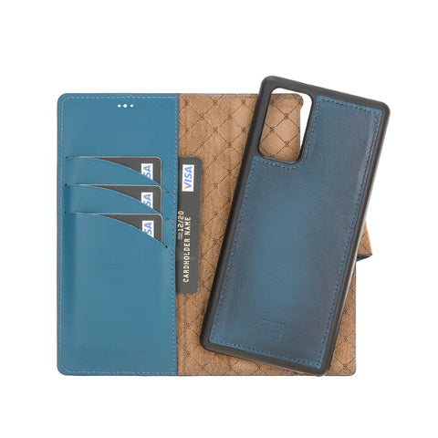 "Magic Magnetic Detachable Leather Wallet Case with RFID for Samsung Galaxy Note 20 / Note 20 5G (6.7"") - BLUE"