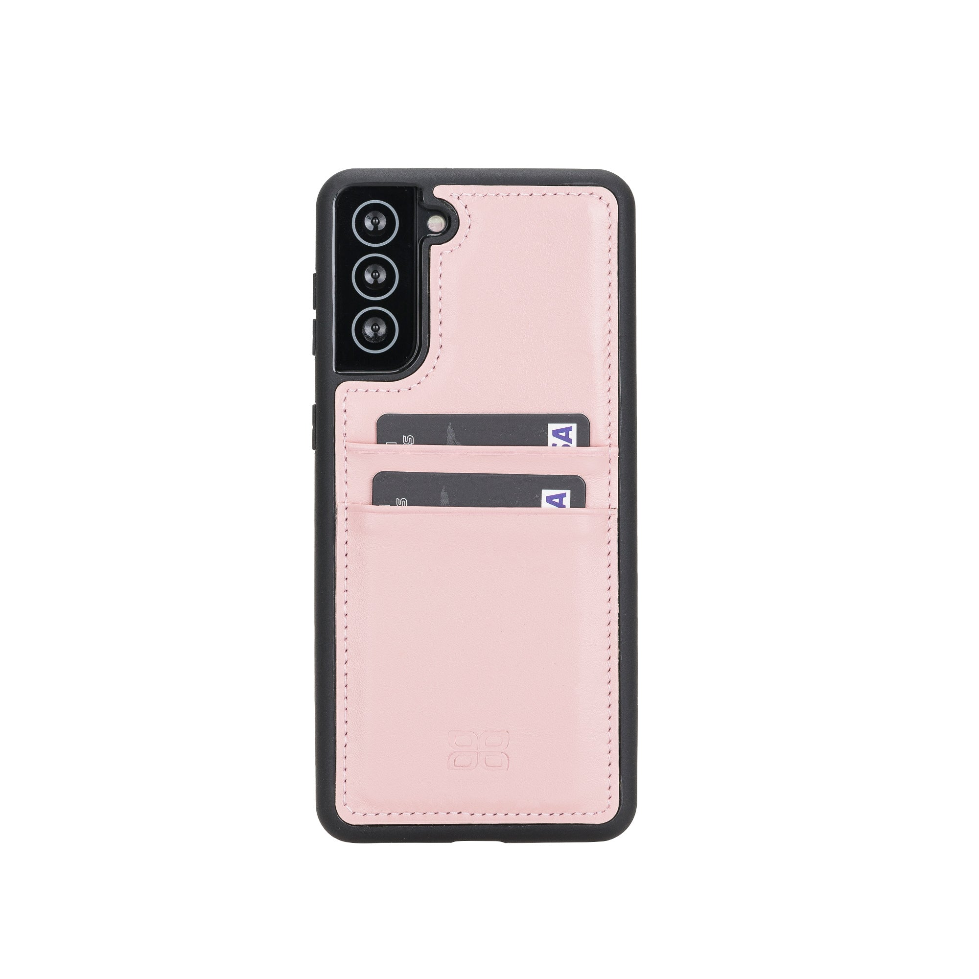 "Flex Cover Leather Back Case with Card Holder for Samsung Galaxy S21 5G (6.2"") - PINK - saracleather"