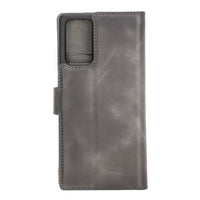 "Magic Magnetic Detachable Leather Wallet Case with RFID for Samsung Galaxy Note 20 / Note 20 5G (6.7"") - GRAY - saracleather"