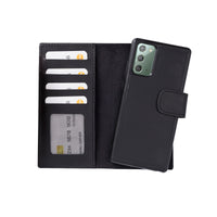 "Liluri Magnetic Detachable Leather Wallet Case for Samsung Galaxy Note 20 / Note 20 5G (6.7"") - BLACK - saracleather"