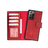 "Liluri Magnetic Detachable Leather Wallet Case for Samsung Galaxy Note 20 Ultra (6.9"") - RED - saracleather"
