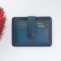 Adelao Leather Men's Bifold Wallet - BLUE - saracleather