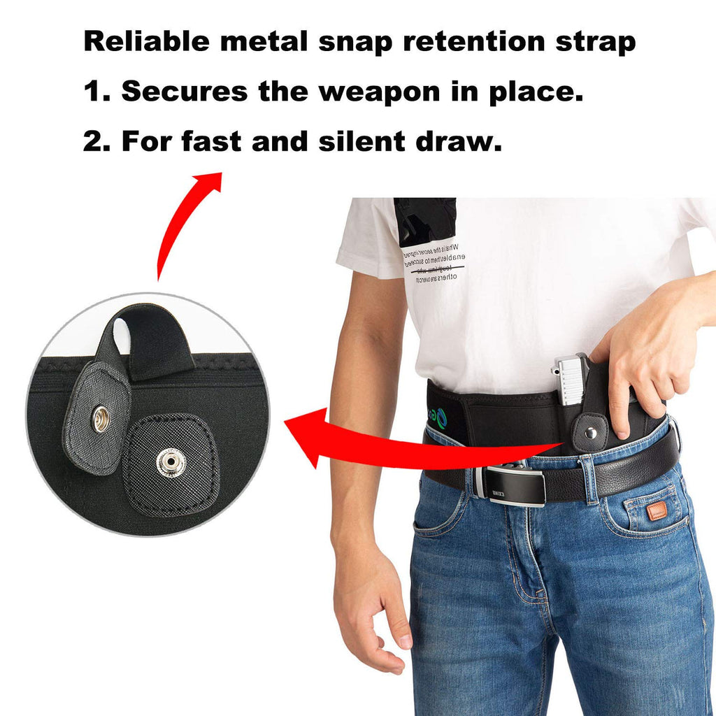Belly Band Holster for Concealed Carry Left Hand