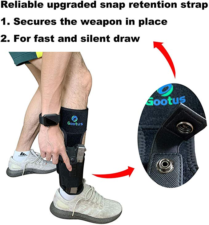 Ankle Pistol Holster for Concealed Carry - Leg Gun Holsters with Magazine Pouch