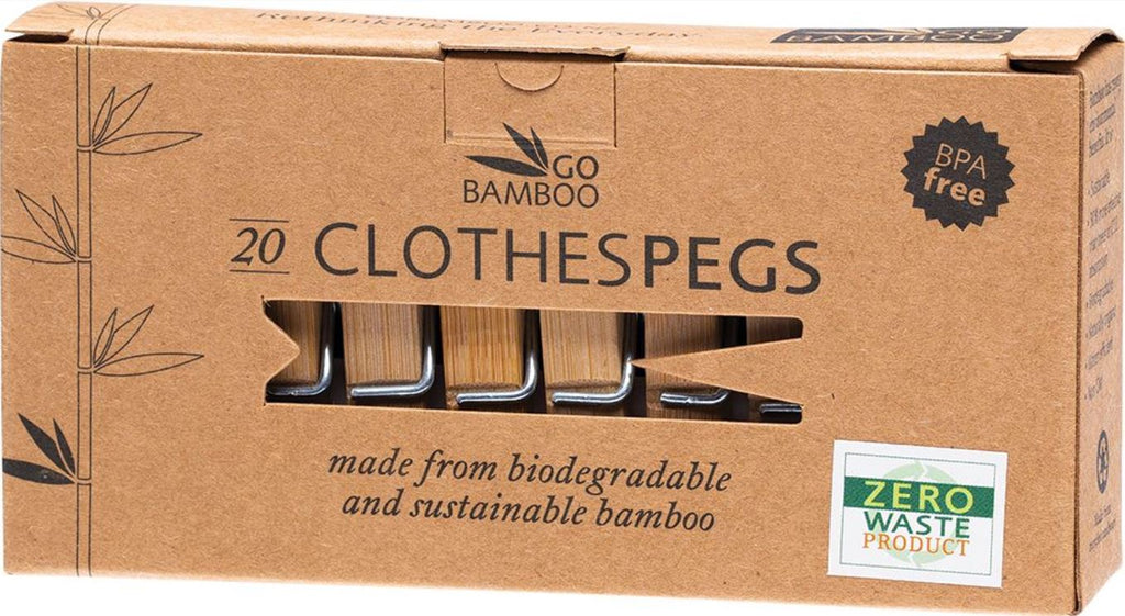 Biodegradable Sustainable Bamboo Pegs 20 pack