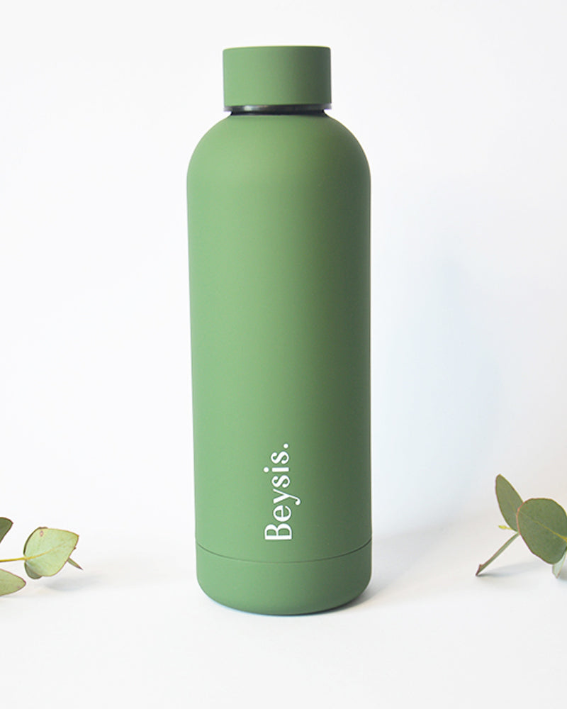 Olive Green 500ml insulated stainless steel bottle