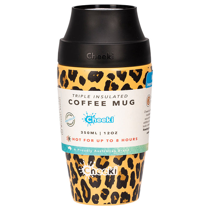 350ml Leak Proof Insulated Coffee Mug - Leopard