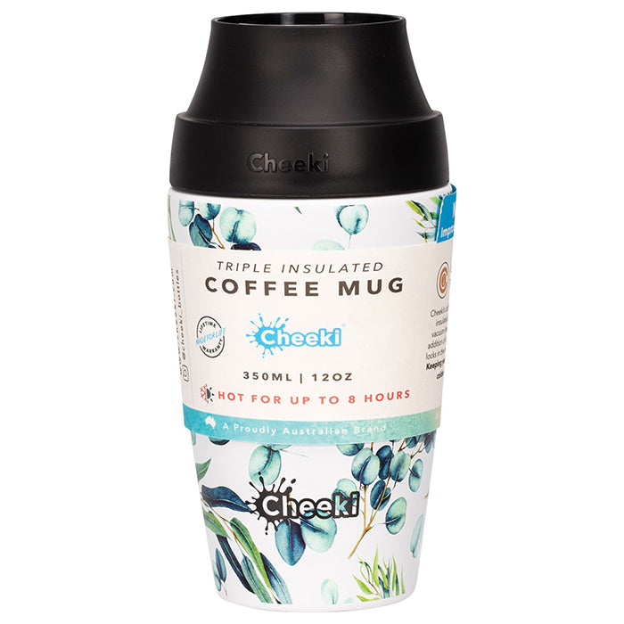 350ml Leak Proof Insulated Coffee Mug - Watercolour