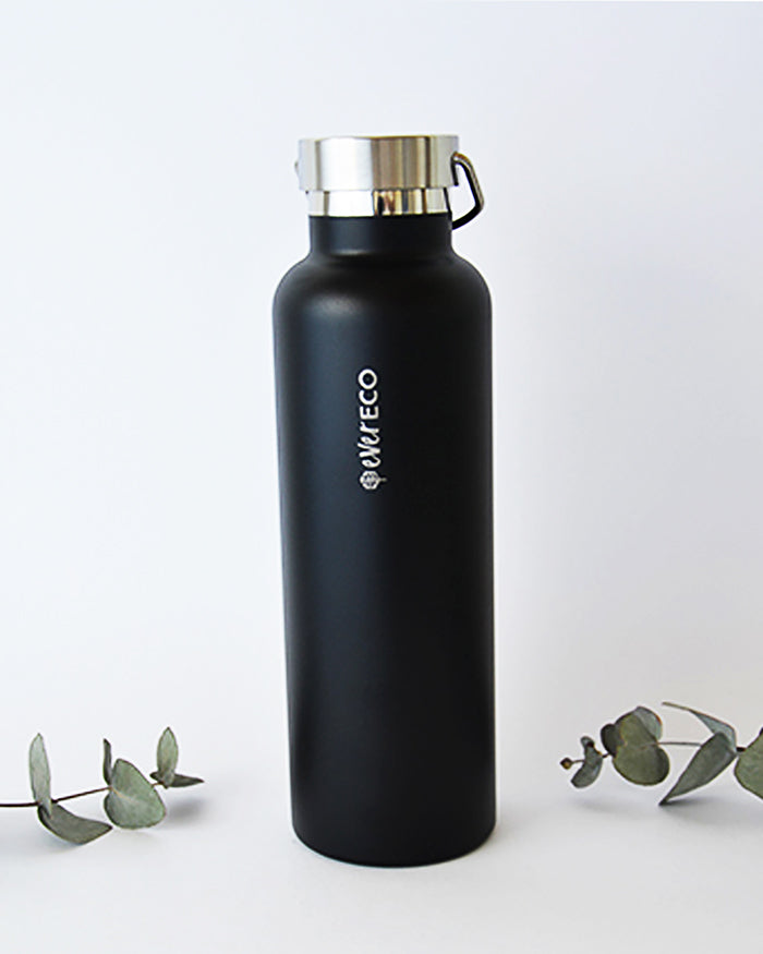 Insulated Stainless Steel Bottle Black 750ml