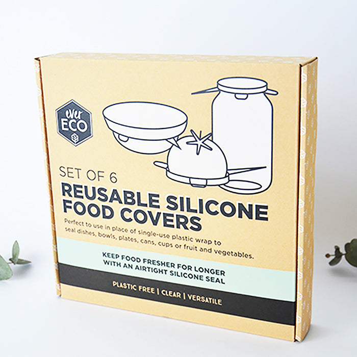 Reusable Silicone Food Covers 6 pack