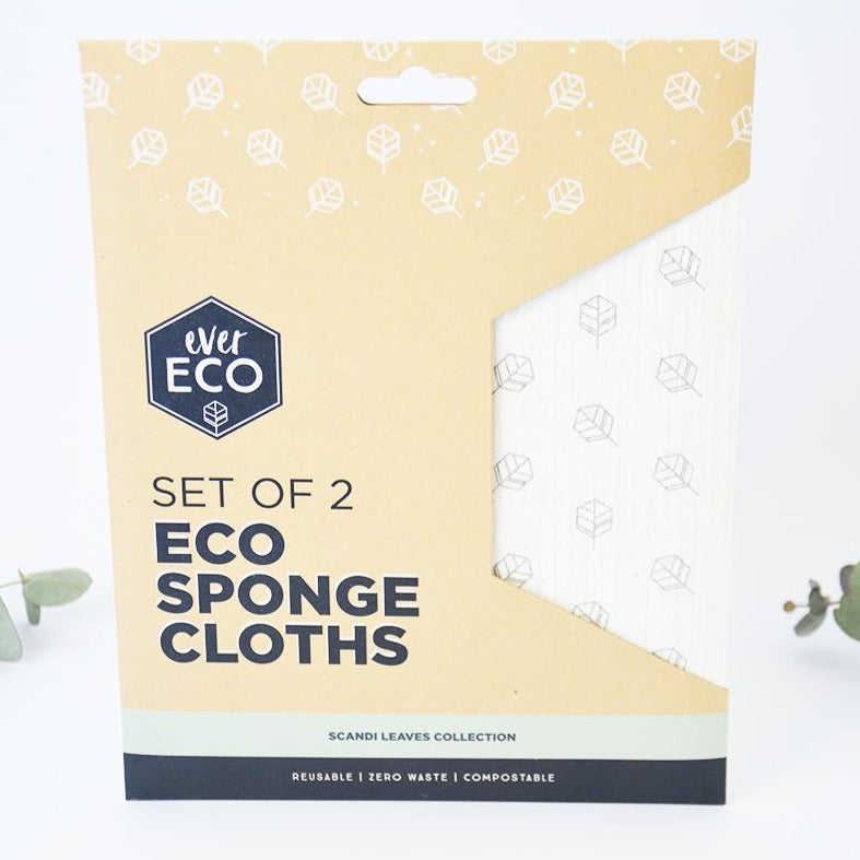 Reusable Washable Eco Kitchen Sponge Cloths 2 pack