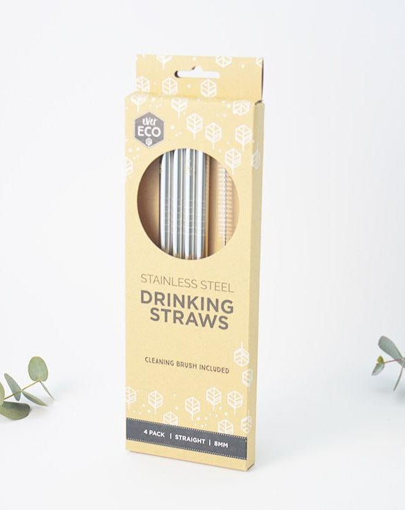 Reusable Stainless Steel Straws 4 pack