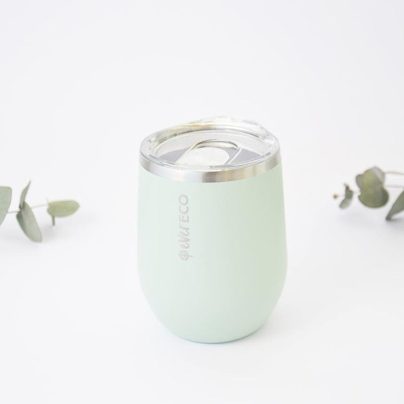 Sage Green Insulated Mini Tea Tumbler Stainless Steel 354ml