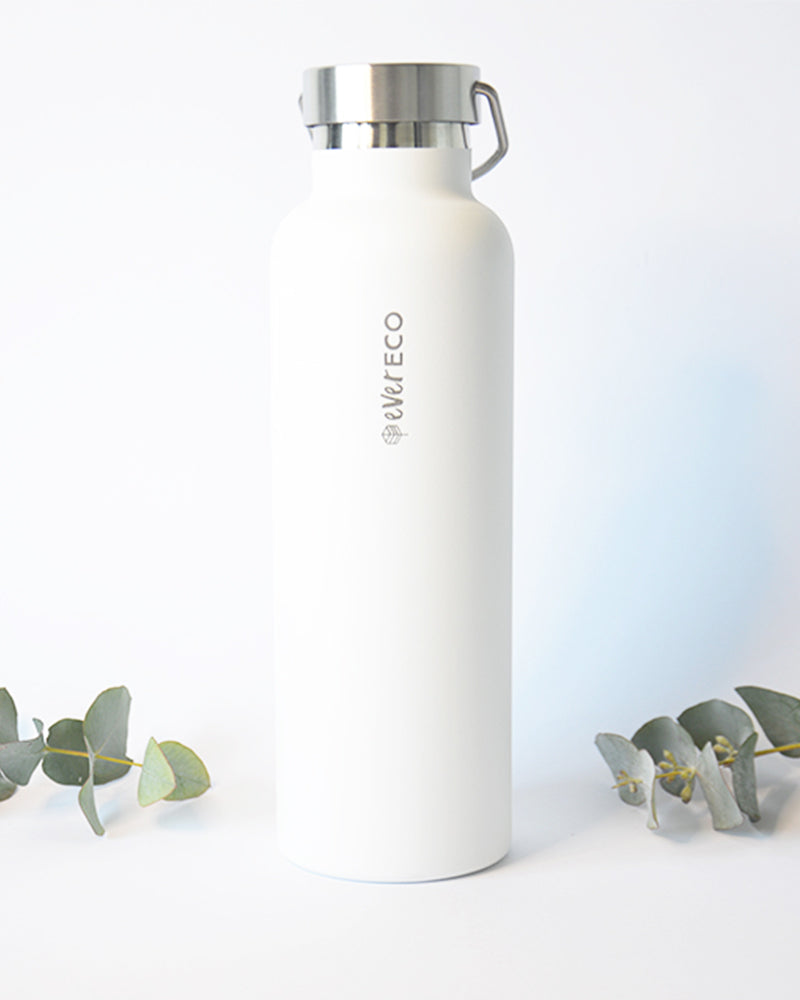 Insulated Stainless Steel Water Bottle 750ml White
