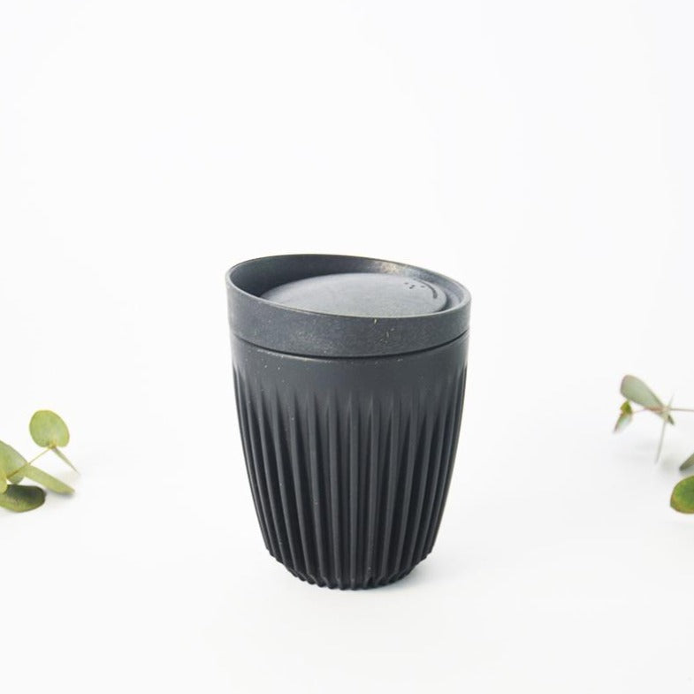 Charcoal 8oz reusable husk coffee mug
