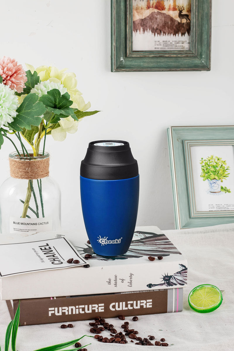 350ml Leak Proof Insulated Coffee Mug - Sapphire Blue