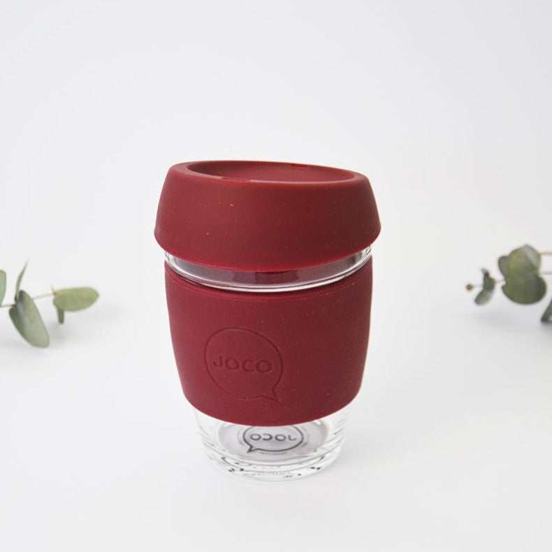 Ruby Wine Reusable Glass Coffee Cup 8oz