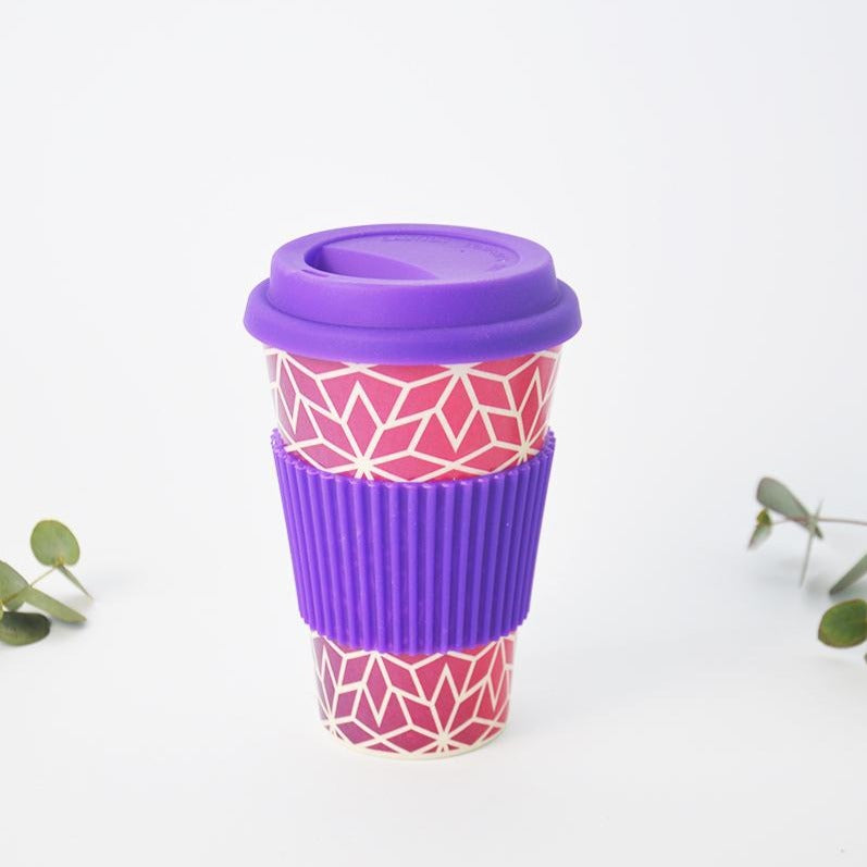 Bamboo Travel Cup Reusable Coffee Cup 430ml