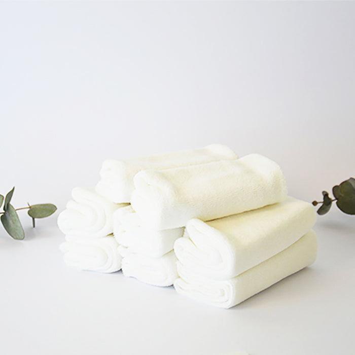 Natural Organic Cotton Washable Reusable Baby Wipes 8 pack