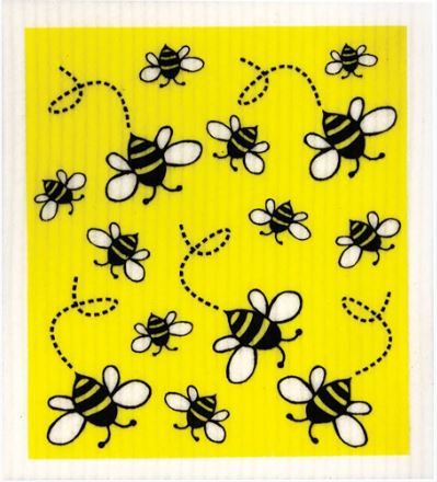 Biodegradable Sponge Cleaning Cloth - Bees