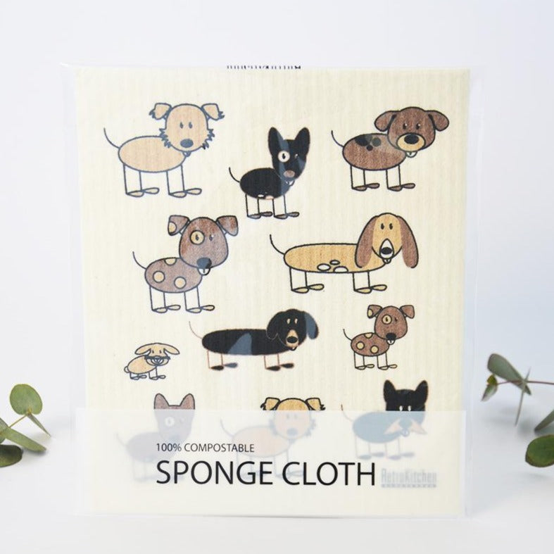 Compostable Sponge Cloth Dogs