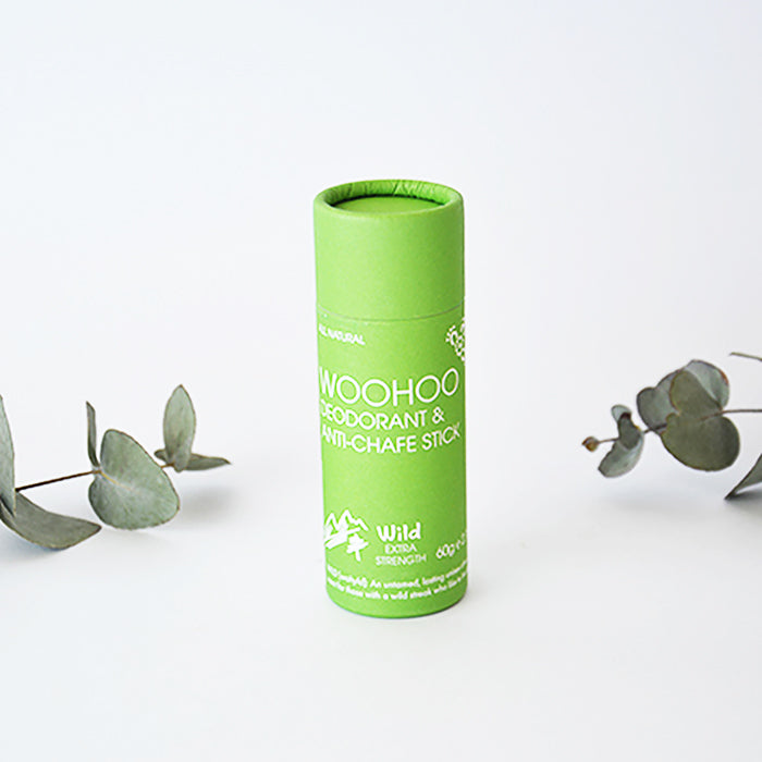 Deodorant Stick Earth-loving cardboard tube! 100% natural Certified Vegan and cruelty free Toxin free and aluminium salt free Plastic free packaging Australian owned and made