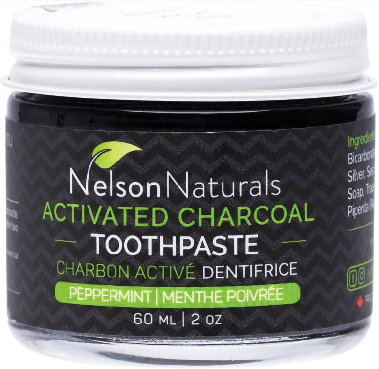 Natural Charcoal Toothpaste in Glass Jar