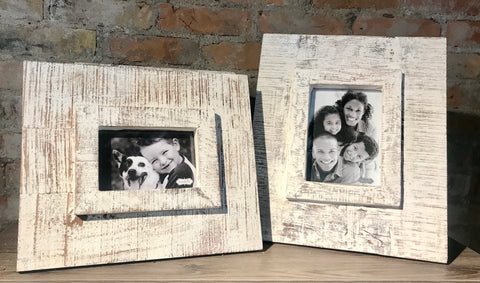 White Washed Wood Frames