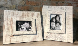 White Washed Wood Frame
